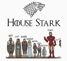 Game of thrones House Stark and Tony Stark by sadanand