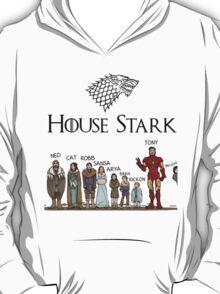 Game of thrones House Stark and Tony Stark T-Shirt