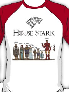 Game of thrones House Stark and Tony Stark T-Shirt