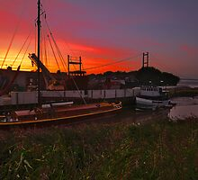 BARTON BOATYARD SUNSET by MIKESCOTT