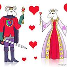Sheep King and Queen of Hearts by SeaSerpent