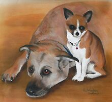 Bently & Tia in pastel  by Woodie