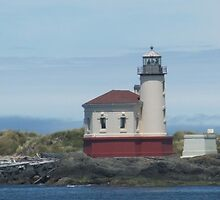 Coquille River Lighthouse by Edith Farrell