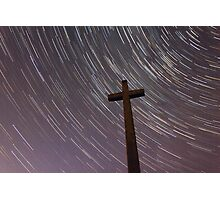 Cross & Stars Photographic Print