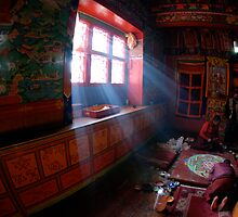 Thyanboche Monastery by Laurette Ruys