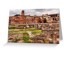 Trajan's Market and Forum - Impressions Of Rome Greeting Card