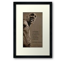 Michael Jordan - quote Framed Print