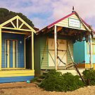 Bathing Boxes, Mornington Peninsula by Roz McQuillan