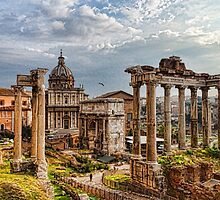 Ancient Roman Forum Ruins - Impressions Of Rome by Georgia Mizuleva