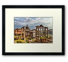 Ancient Roman Forum Ruins - Impressions Of Rome Framed Print