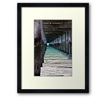 Under the boardwalk again... Framed Print