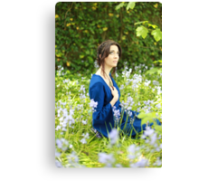 Girl in the bluebells IV Canvas Print