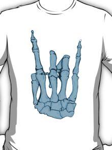 Skeleton hand   Blue T-Shirt