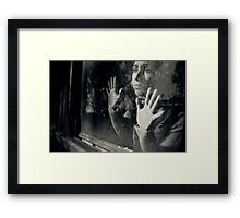 your face in shadow Framed Print