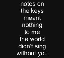 the world didn't sing without you (white text) by Colm Lawlor