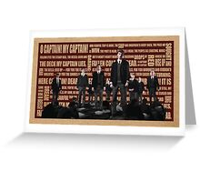 Dead Poets Society Greeting Card