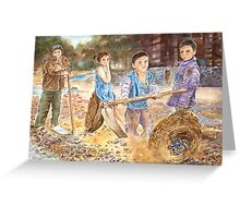 Child labourers, India by Paul Sagoo Greeting Card