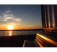 SUNSET SEAT Photographic Print