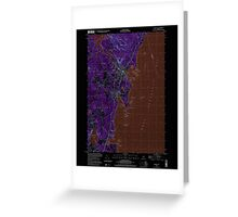 Maine USGS Historical Map Camden 104991 2000 24000 Inversion Greeting Card