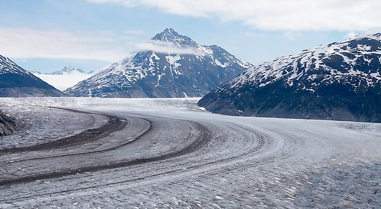 Birds eye view ~ Meade Glacier, Alaska by Robert Elliott