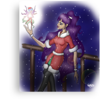 The Christmas Faerie  Canvas Print