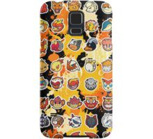 Pokemon - Fire invasion (Black background) Samsung Galaxy Case/Skin