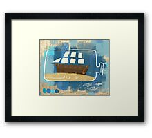 The Ocean Is My Home Framed Print