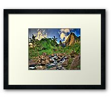 Peace in Iao  Framed Print
