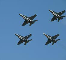 Flying four by Tim Everding