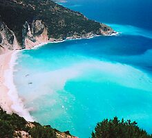 Myrtos Beach, Kefalonia, Greece by Elana Bailey