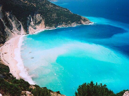 Myrtos Beach, Kefalonia, Greece by Elana Bailey