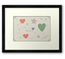 Valentine's Day doodles collection Framed Print