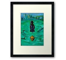 Mama Crow is Amazed! Framed Print