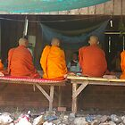 Cambodian Monks by leanneinnes