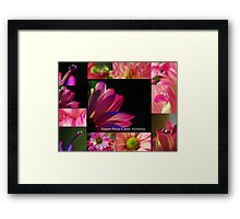 PINK Collection for the Cure - Collage  Framed Print