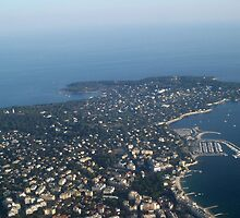 View over Cap d'Antibes by daffodil