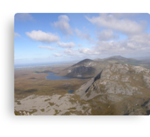 Mountain range view from Errigal Mountain Donegal Ireland Metal Print