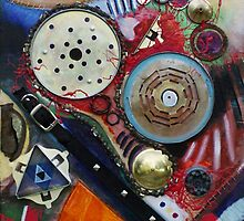A Cog in the Machine (Mixed Material Assemblage)- by Robert Dye
