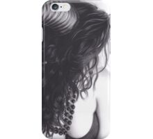 Realism Charcoal Drawing of Sexy Demon Woman iPhone Case/Skin