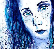 Just Blue by ErikaGlassArt
