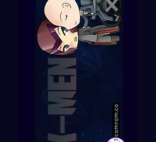 Mutant and Proud: Magneto and Professor Xavier Chibis by Klockworkkat by commonroompc