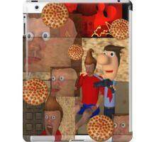 The pizza is aggressive. iPad Case/Skin