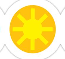 Wind Solar Recycle Sticker