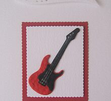 Guitar Birthday Card by Sara Hasted