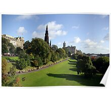 Edinburgh east gardens Poster