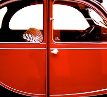 2CV Red by Daniel Sorine