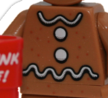 LEGO Gingerbread Man with Dunk Me Mug Sticker
