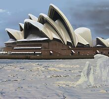 Sydney Opera House Snowstorm by watertigerleo