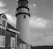 Cape Cod Lighthouse Black &  White by fotomonkey2