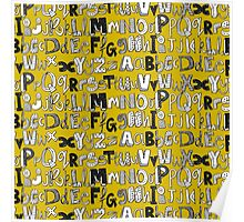 ABC yellow Poster